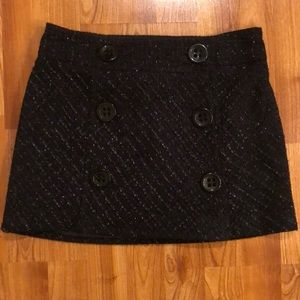 Brand new black with silver stitching skirt